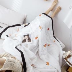 (总)奕君谷 2019小清新水洗棉夏被夏凉被空调被子四件套