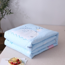 (总)致臻水星 19新款水洗棉带花边夏被夏凉被 学生被