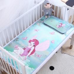 御棉坊卡通大版儿童凉席两件套婴儿冰丝凉席幼儿园席子 蝴蝶仙子