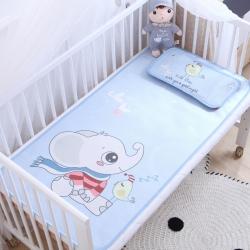 御棉坊 卡通大版儿童凉席两件套婴儿冰丝凉席幼儿园席子 小象