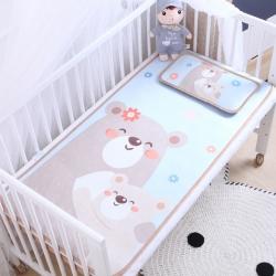 御棉坊 卡通大版儿童凉席两件套婴儿冰丝凉席幼儿园席子 熊宝宝