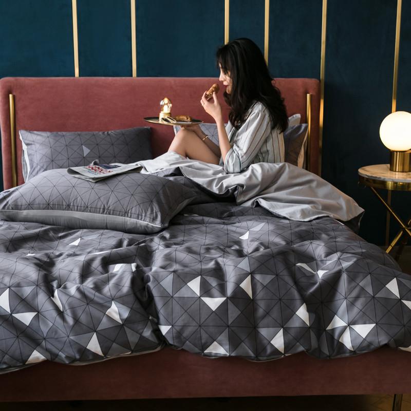 雅居纺 全棉60长绒棉四件套拍摄风格1 三角