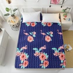 水晶宝宝绒床垫防滑保暖床褥床护垫可机洗软垫薄垫榻榻米 爱情鸟