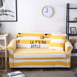 优美佳家纺 2017万能弹力沙发套亲爱的蜜蜂