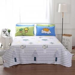 (总)羽爱家纺 棉加水洗棉床盖三件套