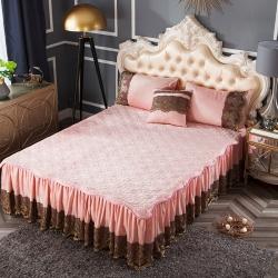 好眠好梦   罗曼情怀水晶绒系列拆卸式单床裙 罗曼情怀-玉色
