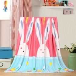 多多爱毯业 2018新款200克法莱绒毛毯 大耳朵兔