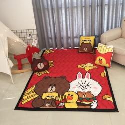 (总)源本家居 四季卡通棉质地垫  卧室沙发客厅宝宝爬行垫