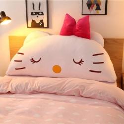 欧漫家居床头靠枕抱枕毛绒玩具大靠背 KT白色