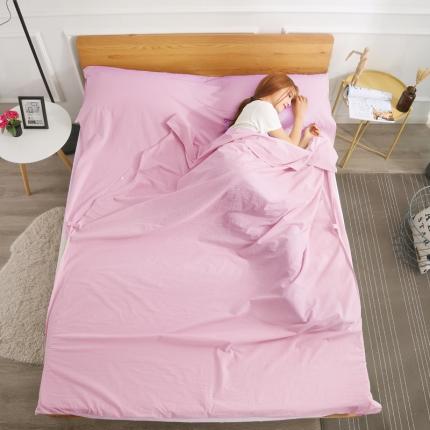 初舍家纺 全棉色织水洗旅行隔脏睡袋 丁香紫