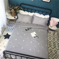 漫调家纺 星星仙人掌床盖(赠送一对荷叶边枕套)实拍图小象-灰