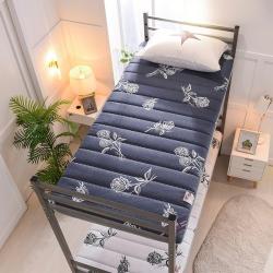 金圣伦 2019新款曲线绗缝床垫小床 浪漫玫瑰-蓝