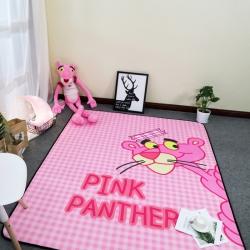 悦巢家纺 宝宝绒卡通地垫爬爬垫 粉红豹