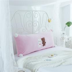 鼎韵家纺 冰淇淋长条靠垫 粉色小熊长条