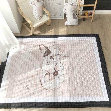卜古 2018新款棉质地垫 可爱的沙皮