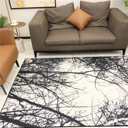 卜古家纺 地毯地垫 树影