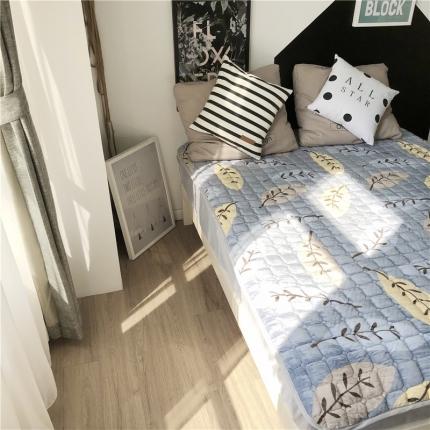 卜古家纺 2018新品床垫保护垫 叶子