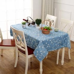 宏雅印象 田园风绣花餐桌布-3色 爱在深秋-蓝