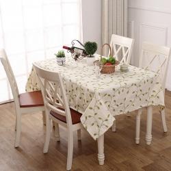 宏雅印象 田园风绣花餐桌布-3色 爱在深秋-米
