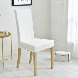 宏雅印象 2018新款华夫格防水餐椅套 均码 奶油白