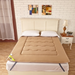 布卢姆床垫 针织透气竹炭床垫驼色