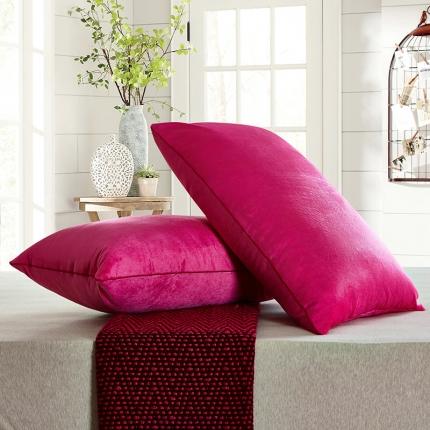 兴煌枕业 水晶绒 舒适枕青春版玫红