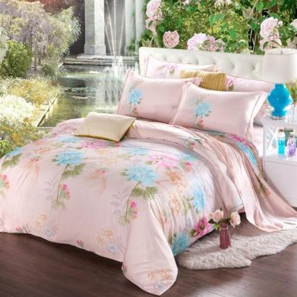 (总)米兰家纺 天丝四件套床单款