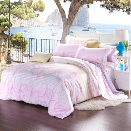 米兰家纺 天丝四件套床单款 舒曼雅