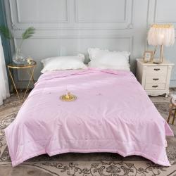 寝香居 2019新款13372全棉喷气印花夏被空调被粉色记忆