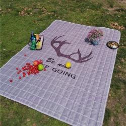 澳泽家纺 2018新款野餐垫地垫爬爬垫防水垫室外图 鹿角