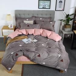 曼璐家纺 新款85g芦荟棉四件套被套床单床上用品 斑璃