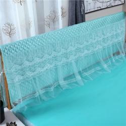 新蕾家纺 2018新款蕾丝床头罩(胭脂恋)水绿色