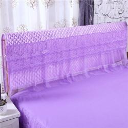 新蕾家纺 2018新款蕾丝床头罩(胭脂恋)紫色