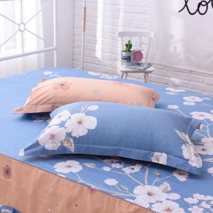 棉立方家纺 全棉13070系列单品枕套(一对)花开半夏