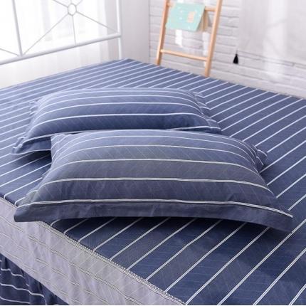 棉立方家纺 全棉13070系列单品枕套(一对)悠闲时光