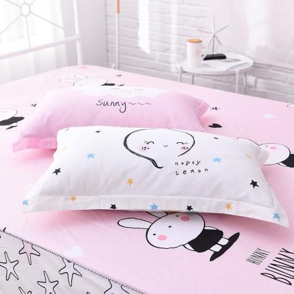 (总)棉立方家纺 全棉13070系列单品枕套(一对)