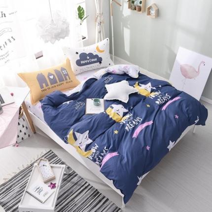 棉立方家纺 13070全棉四件套床单款星月梦想