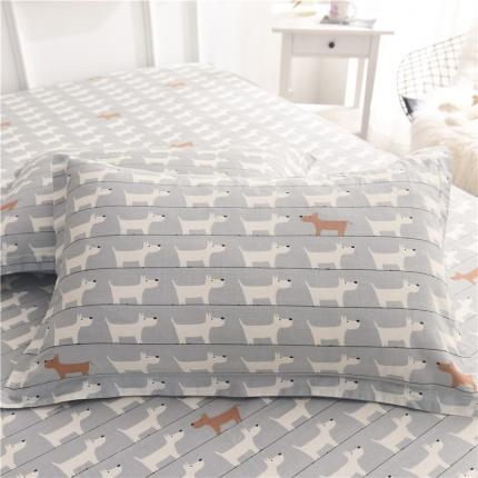 棉立方家纺 新款全棉单枕套 弗朗士