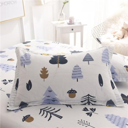 棉立方家纺 新款全棉单枕套 月光森林