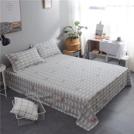 棉立方家纺 新款全棉单床单弗朗士