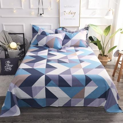棉立方家纺 新款全棉单床单波兰卡尔