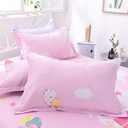 棉立方家纺 新款全棉单枕套 小猪粉
