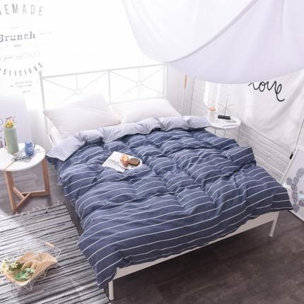棉立方家纺 新款系列小清新全棉床笠四件套 悠闲时光