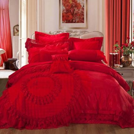 他她之恋 婚庆系列十件套 棉花糖之恋-大红