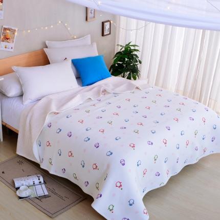 珺柔家纺 天竺棉印花系列夏被空调被小企鹅