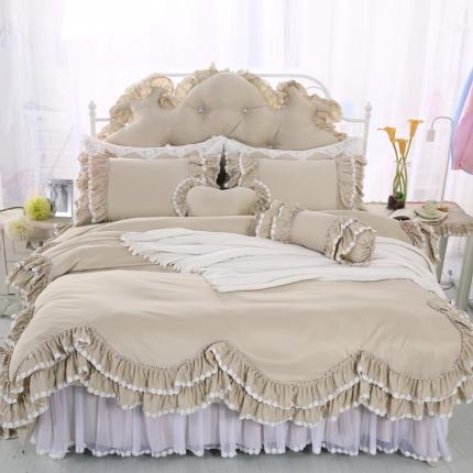 (总)玉儿纺 韩版田园公主风床裙款四件套六月雪