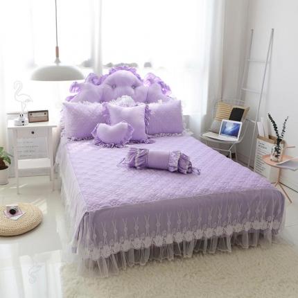 玉儿纺 韩版田园公主风单品床裙欢乐颂 紫色