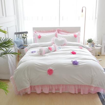 (总)玉儿纺 韩版冬季保暖绒款四件套床裙款-淑女款
