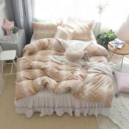 (总)玉儿纺 韩国泡泡兔兔绒四件套床裙款