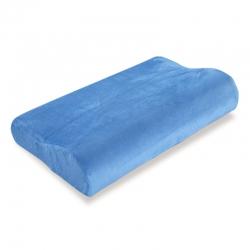 古德家居慢回弹枕芯记忆棉枕头护颈枕颈椎保健枕头纯色款海蓝色